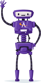 Purple Apogee robot